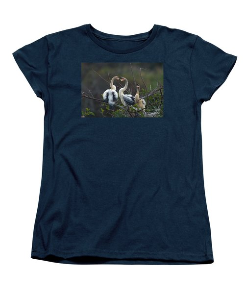 Baby Anhinga Women's T-Shirt (Standard Cut) by Mark Newman