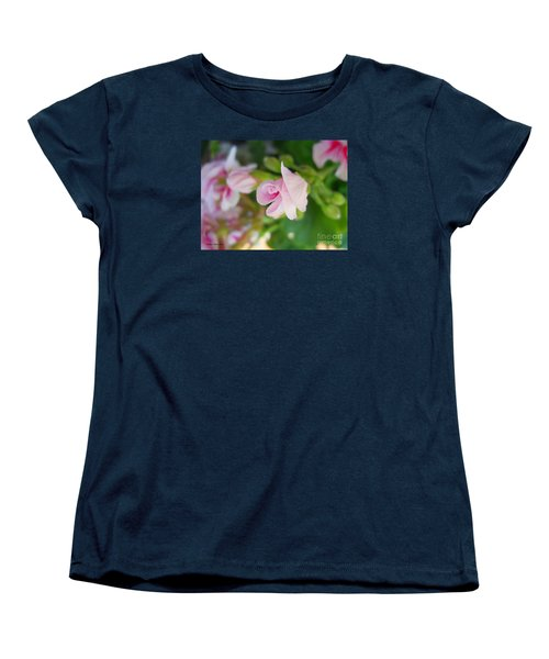 Women's T-Shirt (Standard Cut) featuring the photograph Baby Geranium by Ramona Matei