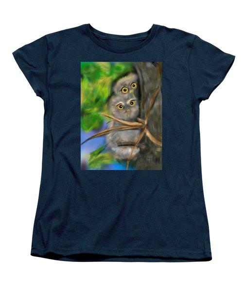 Baby Owls Women's T-Shirt (Standard Cut)