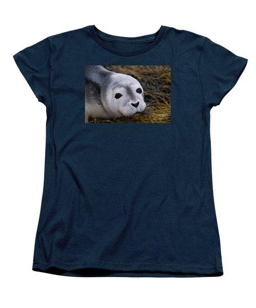 Baby Seal Women's T-Shirt (Standard Cut) by DejaVu Designs