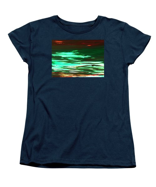 Back To Canvas The Landscape Of The Acid People Women's T-Shirt (Standard Cut) by Sir Josef - Social Critic -  Maha Art