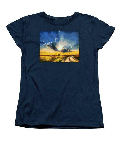 Women's T-Shirt (Standard Cut) featuring the painting Back To Goodbye by Joe Misrasi