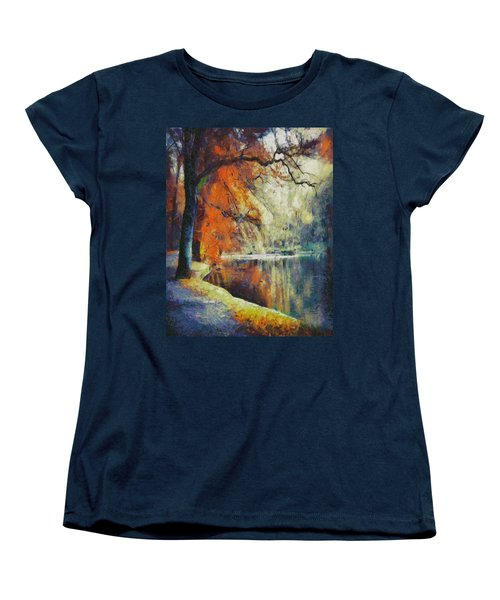 Women's T-Shirt (Standard Cut) featuring the painting Back To Our Dreams by Joe Misrasi