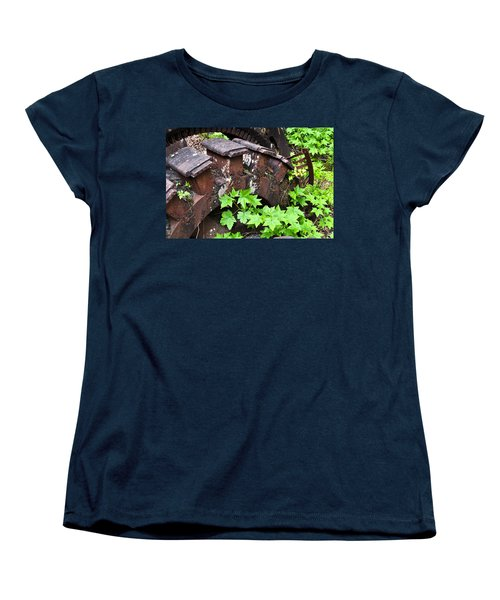Women's T-Shirt (Standard Cut) featuring the photograph Back To The Forest by Cathy Mahnke
