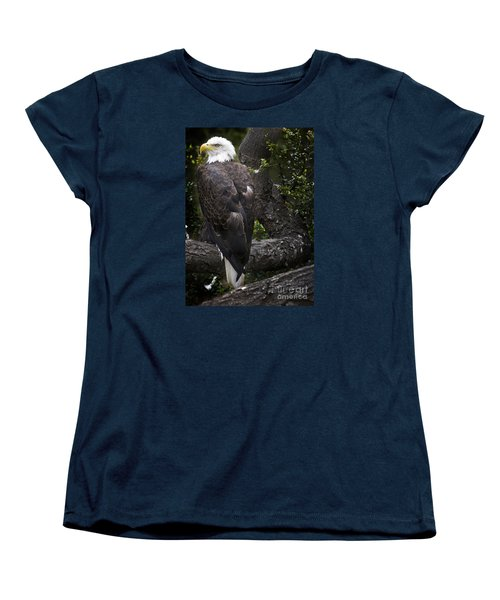 Bald Eagle Women's T-Shirt (Standard Cut) by David Millenheft