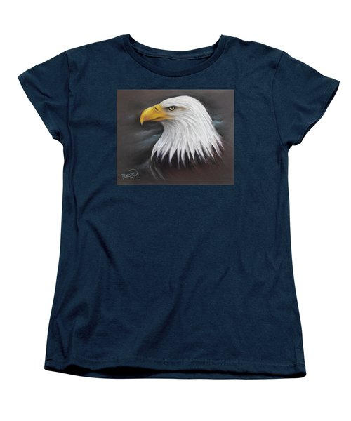 Bald Eagle Women's T-Shirt (Standard Cut) by Patricia Lintner