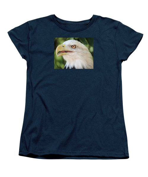 Women's T-Shirt (Standard Cut) featuring the photograph American Bald Eagle Portrait - Bright Eye by Patti Deters