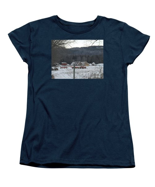 Women's T-Shirt (Standard Cut) featuring the photograph Bales Of Hay by Brenda Brown