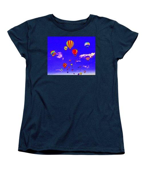Ballon Race Women's T-Shirt (Standard Cut) by Mustafa Abdullah