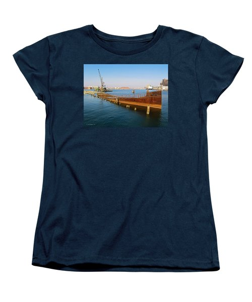 Women's T-Shirt (Standard Cut) featuring the photograph Baltimore Museum Of Industry by Brian Wallace