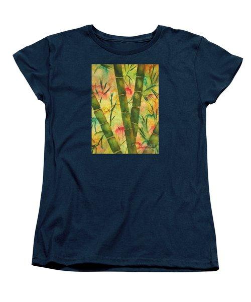 Bamboo Garden Women's T-Shirt (Standard Cut) by Chrisann Ellis