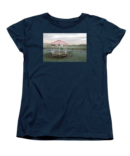 Bandstand In Winter Women's T-Shirt (Standard Cut) by Jeremy Voisey