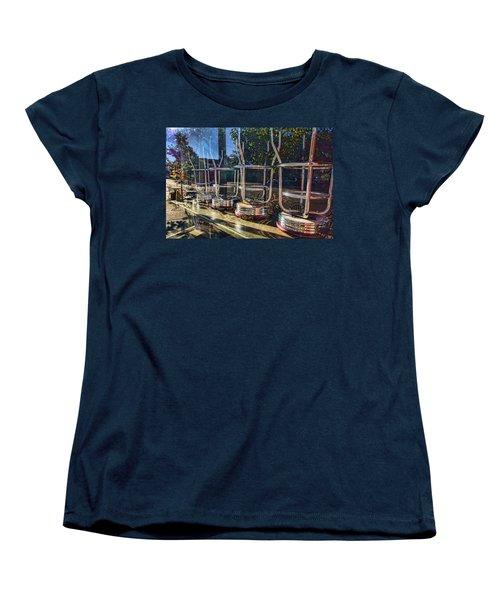 Bar Stools Up Women's T-Shirt (Standard Cut) by Daniel Sheldon