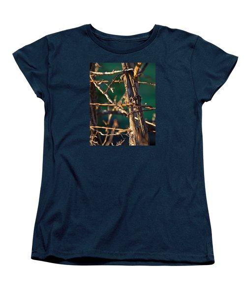 Don't Fence Me In Women's T-Shirt (Standard Cut) by Mark Alder