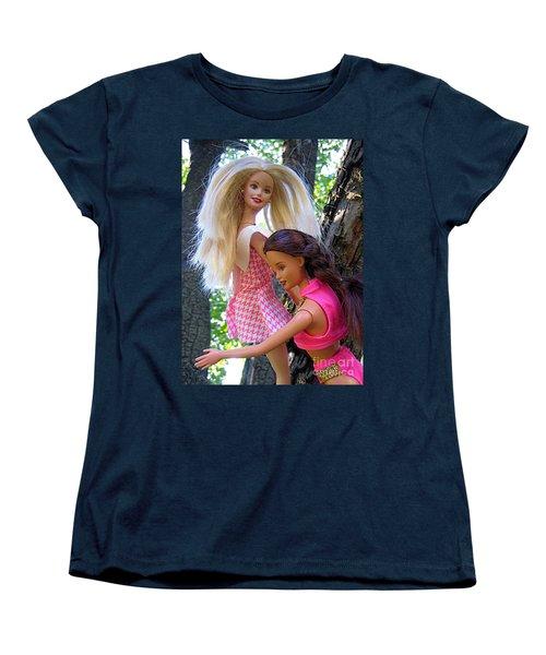 Women's T-Shirt (Standard Cut) featuring the photograph Barbie's Climbing Trees by Nina Silver