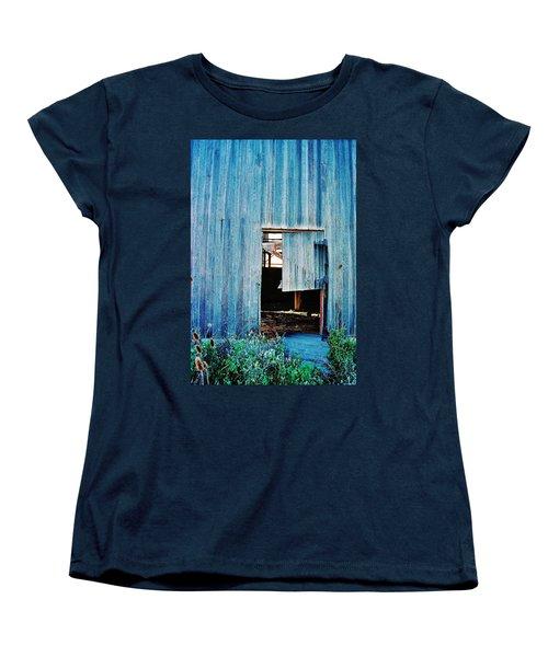 Barn Door... Monroe Co. Michigan Women's T-Shirt (Standard Cut) by Daniel Thompson