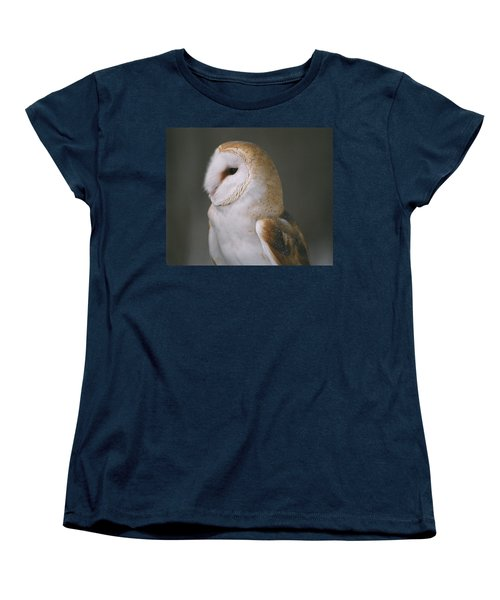 Barn Owl Women's T-Shirt (Standard Cut) by David Porteus