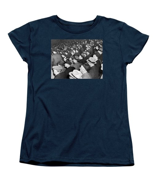 Baseball Fans At Yankee Stadium For The Third Game Of The World Women's T-Shirt (Standard Cut) by Underwood Archives