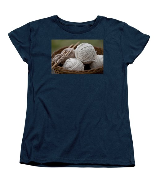 Basket Of Yarn Women's T-Shirt (Standard Cut) by Wilma  Birdwell