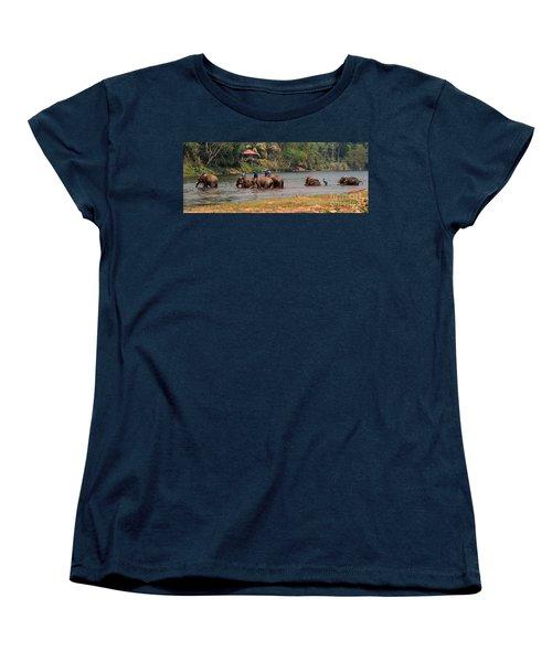 Women's T-Shirt (Standard Cut) featuring the photograph Bath Time by Vivian Christopher