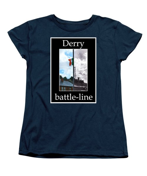 Women's T-Shirt (Standard Cut) featuring the photograph Battleline by Nina Ficur Feenan