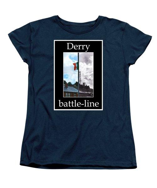 Battleline Women's T-Shirt (Standard Cut) by Nina Ficur Feenan