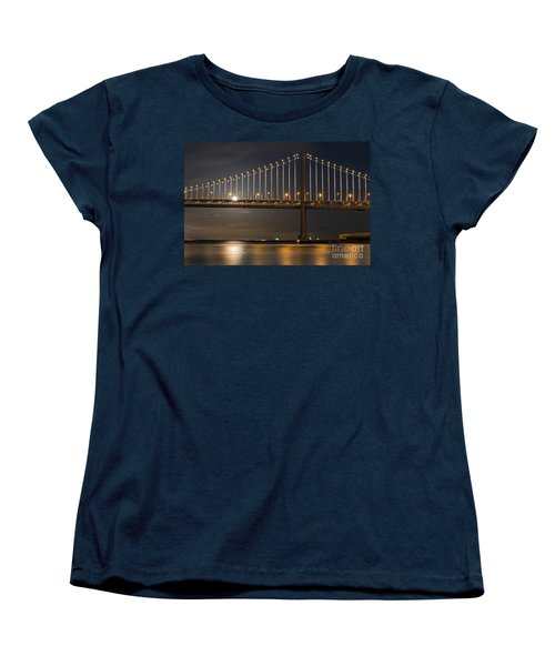 Bay Bridge Moon Rising Women's T-Shirt (Standard Cut) by Kate Brown