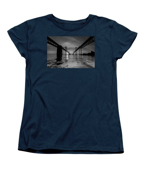Women's T-Shirt (Standard Cut) featuring the photograph Bay Bridge Strength by Jennifer Casey