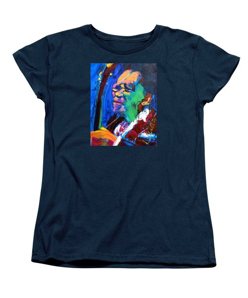 Women's T-Shirt (Standard Cut) featuring the painting B.b.king by Les Leffingwell