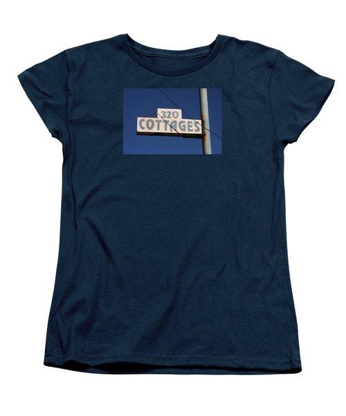 Beach Cottages Women's T-Shirt (Standard Cut) by Art Block Collections