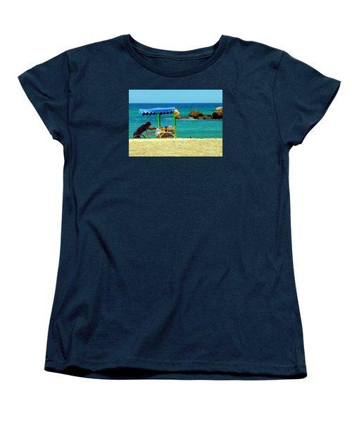 Beach Entrepreneur In San Jose Del Cabo Women's T-Shirt (Standard Cut) by Barbie Corbett-Newmin