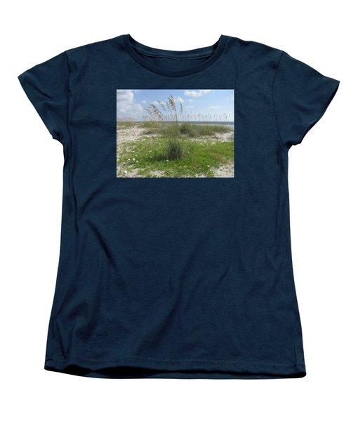 Beach Flowers And Oats 2 Women's T-Shirt (Standard Cut)