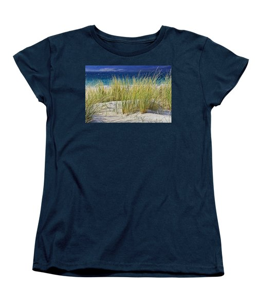 Beach Gras Women's T-Shirt (Standard Cut) by Juergen Klust