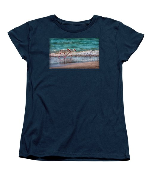Beach Jogging In Twos Women's T-Shirt (Standard Cut)