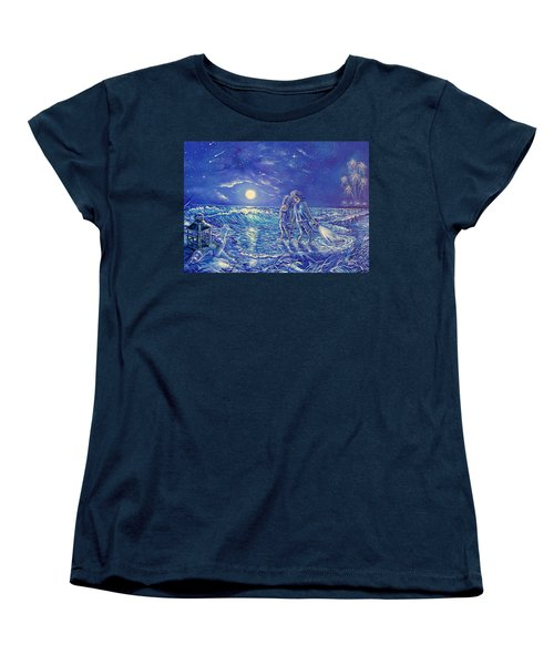 Beach Lites Women's T-Shirt (Standard Cut) by Gail Butler