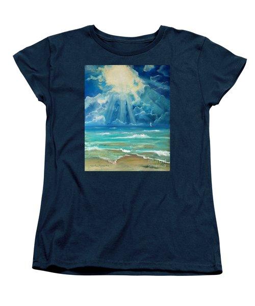 Beach Women's T-Shirt (Standard Cut) by Robin Maria Pedrero