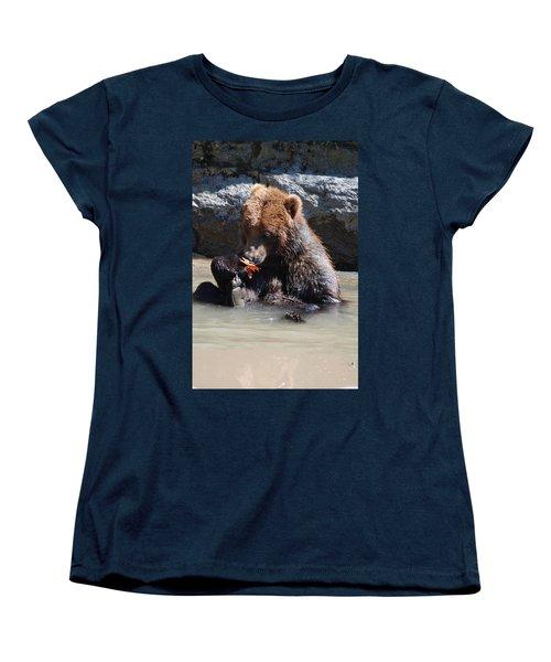 Bear Cub Women's T-Shirt (Standard Cut) by DejaVu Designs