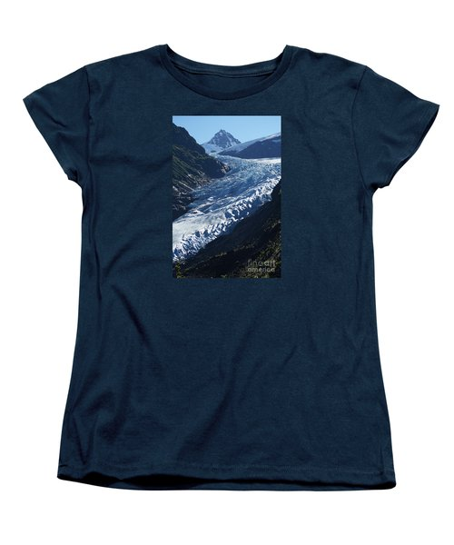 Women's T-Shirt (Standard Cut) featuring the photograph Bear Glacier by Stanza Widen
