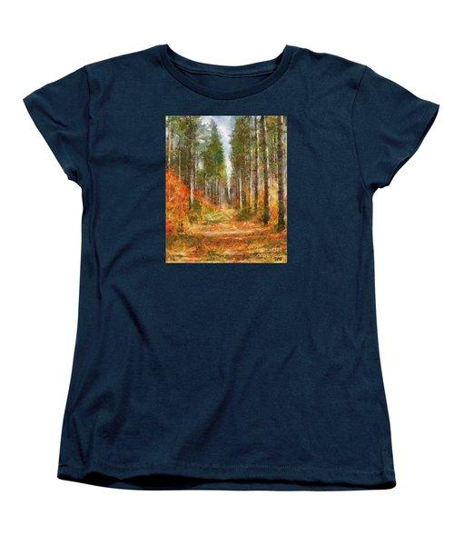 Beautiful Autumn Women's T-Shirt (Standard Cut) by Dragica  Micki Fortuna