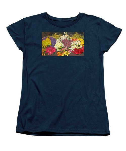 Beautiful Blooms Women's T-Shirt (Standard Cut) by Judith Morris