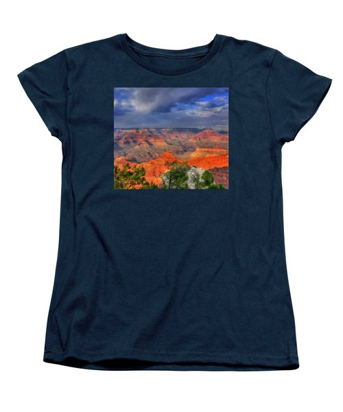 Women's T-Shirt (Standard Cut) featuring the painting Beautiful Canyon by Bruce Nutting
