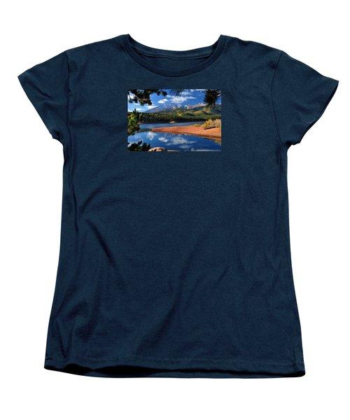 Beautiful Pikes Peak At Crystal  Women's T-Shirt (Standard Cut) by John Hoffman