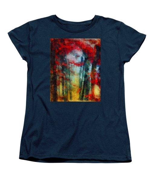 Women's T-Shirt (Standard Cut) featuring the painting Beautiful Secrets by Joe Misrasi