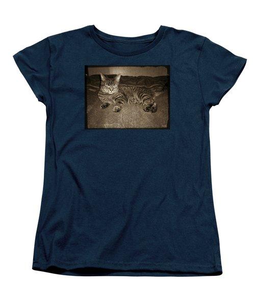 Beautiful Tabby Cat Women's T-Shirt (Standard Cut) by Absinthe Art By Michelle LeAnn Scott