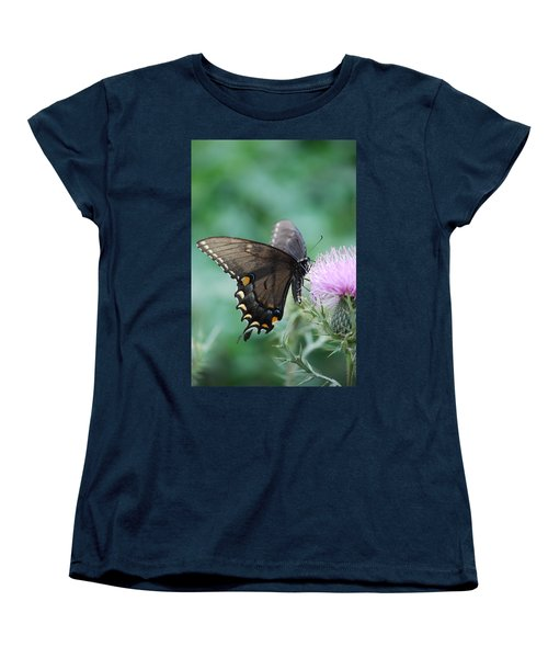Beauty And Thistle Women's T-Shirt (Standard Cut) by Eric Liller
