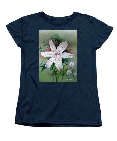 Women's T-Shirt (Standard Cut) featuring the painting Beauty For Ashes by Hazel Holland
