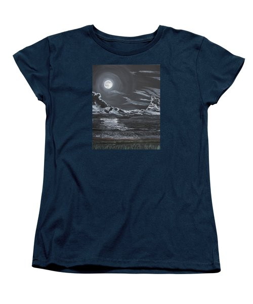 Women's T-Shirt (Standard Cut) featuring the painting Beauty Of The Night by Ian Donley