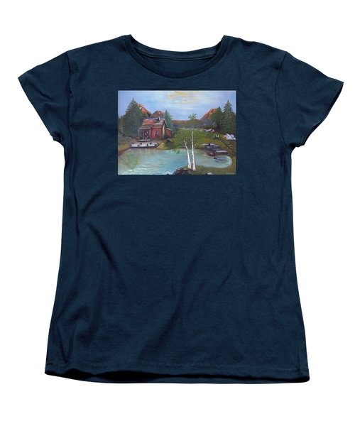 Beaver Pond - Mary Krupa Women's T-Shirt (Standard Cut) by Bernadette Krupa