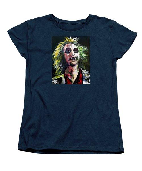Beetlejuice Women's T-Shirt (Standard Cut) by Tom Carlton