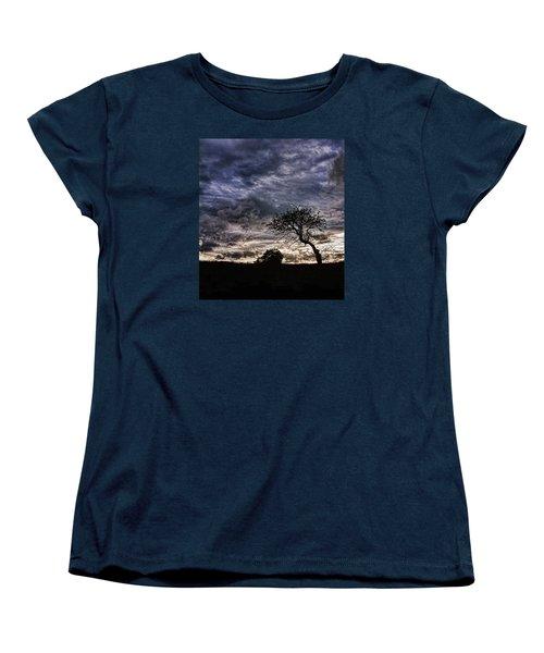 Nova Scotia's Lonely Tree Before The Storm  Women's T-Shirt (Standard Cut)